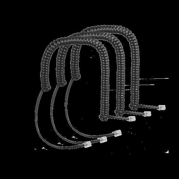 Set of coiled cords (3 pcs) for COMfortel handset